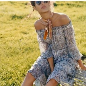 Anthropologie off the shoulder dress